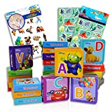 Disney Alphabet Book Bundle Disney Board Books Set ~ 26 Disney Pixar Alphabet Learning Books Disney Board Books For Toddlers with Stickers (Disney Educational Books)