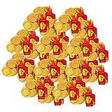 30 monedas británicas de chocolate con leche, color dorado, 75 g