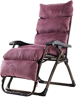 Outdoor Lounge Chair Folding Zero Gravity Chair, Adjustable Computer Chair with Comfort Pad, Office Rest Chair, Support Ab...