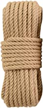 Natural Jute Rope 30 Meters(98 ft) 14mm Hemp Rope for Arts Crafts Gift Wrapping