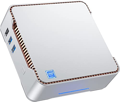 Mini PC 8 RAM + 256 ROM, Intel Celeron J4125 (jusqu'à 2,7 GHz) Slim PC Mini Ordinateur Windows 10 Pro, Dual WiFi 2.4/...