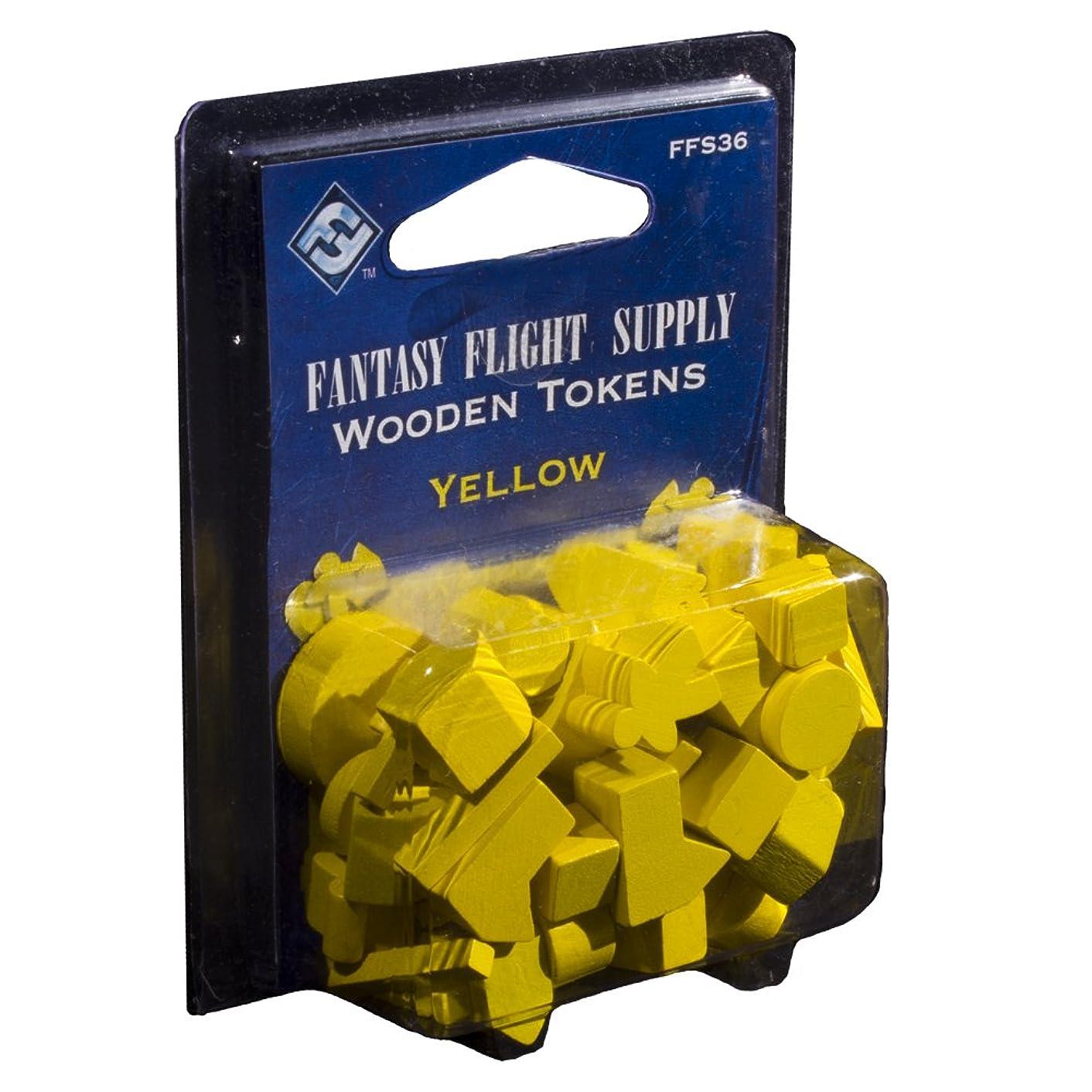 Fantasy Flight Supply: Wood Tokens - Yellow