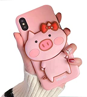 BONTOUJOUR iPhone X/iPhone XS Case, Super Cute 3D Piggy Pattern Serie Lovely Pig Case Matte Surface Soft TPU Case - Lovely Pig