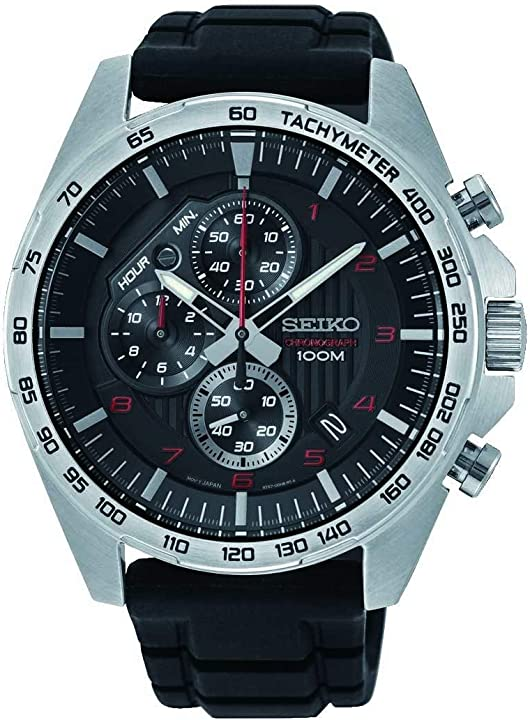 Orologio seiko cronografo quarzo uomo con cinturino in acciaio inox SSB325P1
