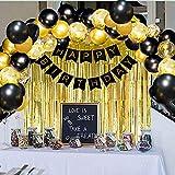 Black Gold Birthday Party Decoration Set,...