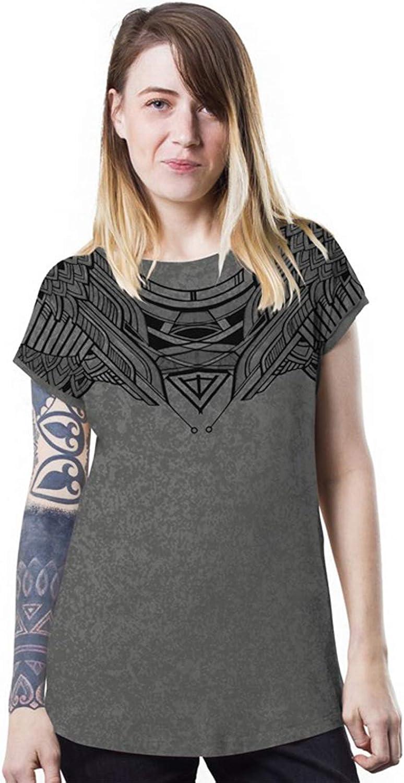 Women's Printed TShirt  Exclusive Street Art Owl Design  Crew Neck Cotton Top