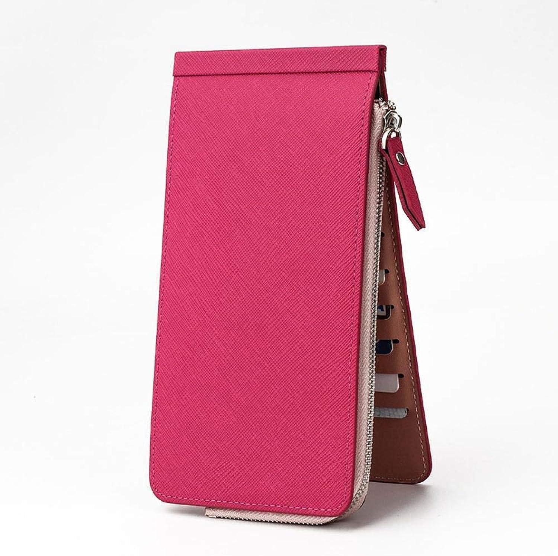 Girls Purse Women's Wallet,Women's LargeStyle Card Bag Fashion MultiCard Zipper Hand Bag Mobile Bag Wallet PVC (color   D)