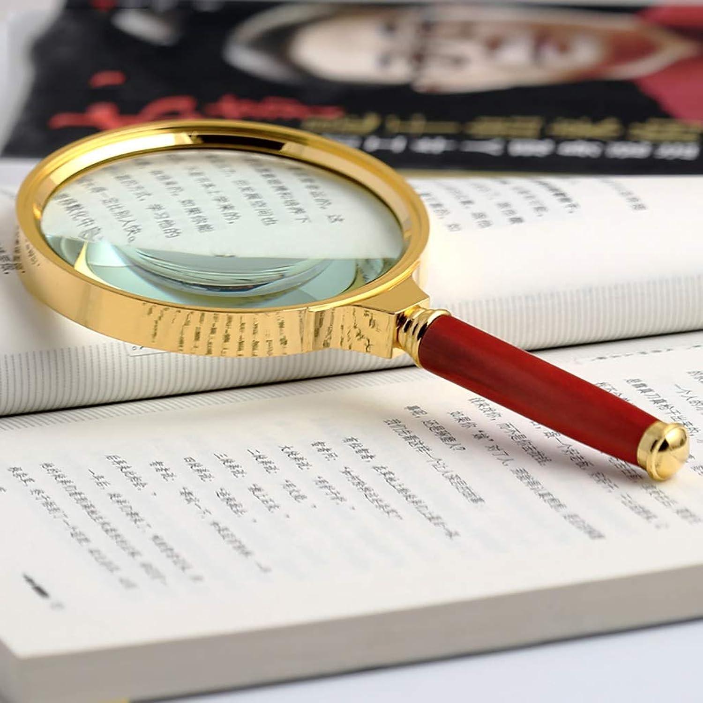 a la venta ElectroOptix 20X Handheld Magnifier Magnifier Magnifier Antique Mango Lupa, Lupa de Lectura para Libro de Lectura, Lupa con Mango Antideslizante (Color  Rojo)  minoristas en línea