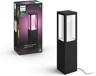 Philips Hue White and Colour Ambiance LED Impress Black Pedestal Base Unit Compatible with Alexa