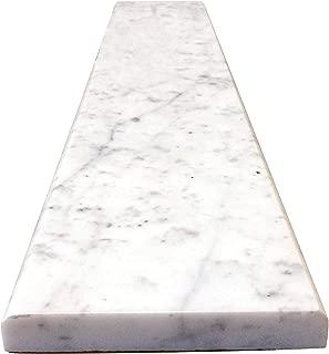 Vogue Tile White Carrara Marble Threshold (Marble Saddle) - Polished - (5