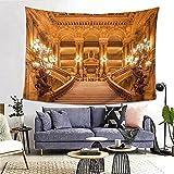 Tapiz de pared, tapiz de pared con estampado gótico dorado europeo para colgar en la pared para dormitorio, sala de estar, dormitorio, decoración de dormitorio universitario, (80 x 60 pulgadas)