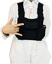 BLVL Radio Chest Harness Chest Front Pack Pouch Holster Vest Rig for Portable Radio