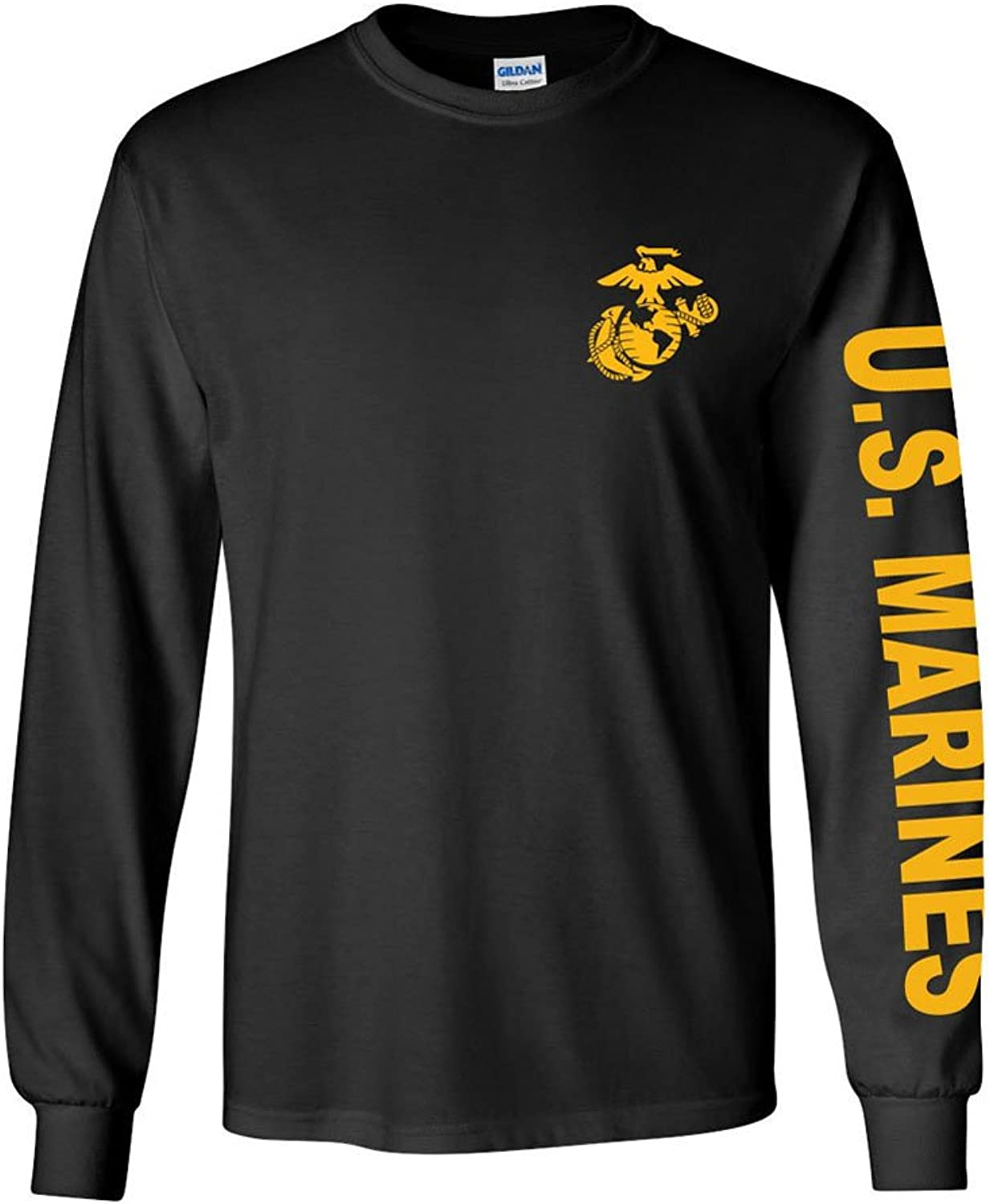 c0ce78f0e Armed Forces Depot U.S. U.S. U.S. Marine Corps Long Sleeve Tshirt. Black Or  Sports Grey. Made in USA baba3d