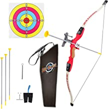 Pickwoo Bow and Arrow for Kids, Bow & Arrow Play Set for Boys and Girls, Archery Set for Beginners with Target, Shooting Hunting Bow for Toddlers Bow Arrow, Suction Cup Arrow, Finger Cots