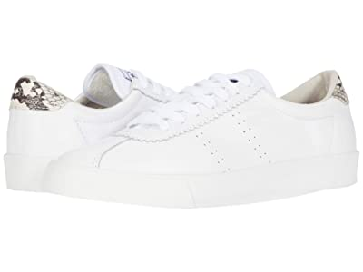 Superga 2843 Clubs Comf Sneaker (White Snake) Women