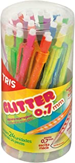 Lapiseira 0.7mm Tris Glitter Cores Sortidas - Pote com 24 Summit, Multicor