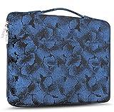 ZINZ Maletín 15 15,6 16 Funda Portátil Impermeable para 15-16 Pulgadas MacBook Pro 16 15, Surface Laptop 3 15,XPS 15 Laptop Ultrabook Netbook, DELL HP Lenovo Acer ASUS y más, Flores Azules