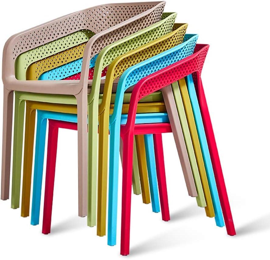 FENDOU Chaise de salle à manger simple, dossier créatif, chaise de loisirs, chaise de salle à manger pour adulte, mode (couleur : bleu) Vert