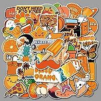 ステッカーかわいいステッカーオレンジステッカー落書きステッカースーツケース日記ステッカーコンピューターギターステッカーステッカー50PCSMTZ124-67