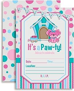 Puppy Paw-ty Birthday Party Invitations, 20 5
