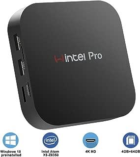 Mini PC,Intel x5-Z8350 HD Graphics Fanless Mini Computer,Windows 10 Pro 64-bit,4GB/64GB Storage/4K/Dual Band WiFi/BT 4.2