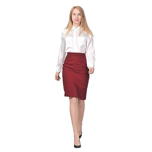 a110129027b Marycrafts Women s Lined Pencil Skirt 4 Work Business Office