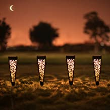 6Pcs Solar Pathway Garden Lights Outdoor Decorative Stakes, Waterproof LED Landscape Lighting for Lawn, Walkway, Patio, Ya...
