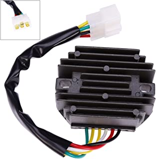 Voltage Regulator Rectifier and Repair Plug for John Deere 240, 245, 265 Lawn Tractor, 345, F525, F735, Gx345, Lx176, X495, X575, X700, X720, Cs Cx Ts Gator Replace# AM108848 AM126304 M70121 M97348