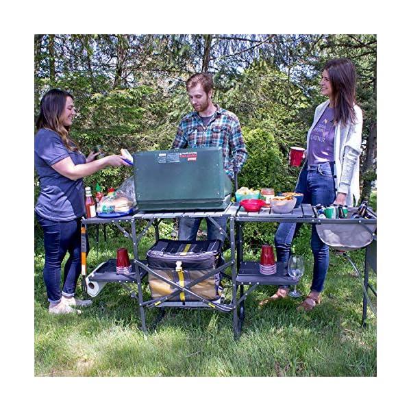 GCI Outdoor Master Cook Portable Folding Camp Kitchen , Black