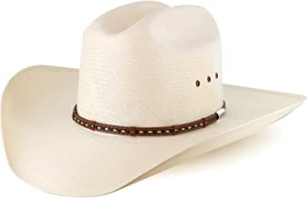 Stetson Men's 10X Natural Gunfighter Straw Cowboy Hat