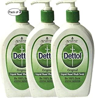 Dettol Original Liquid Hand Wash(200ml) (Pack of 3) PACKAGING MAY VARY