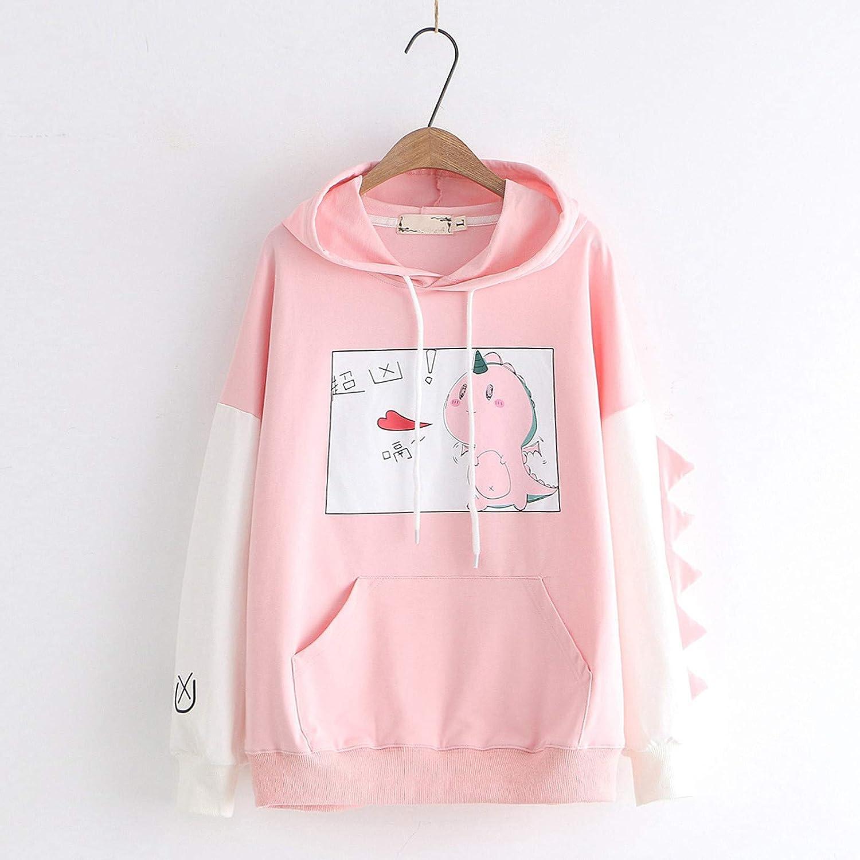 DDYIIO Damen Hoodie Kapuzenpullover Langarm Sweatshirt Kapuzensweatshirt mit Kapuze und Kordelzug Y