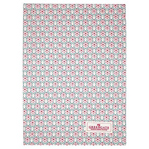 GreenGate Tea Towel Leah Pale pink