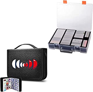 Trading Card Binder Holds 720 Cards & 2200+ Card Case Holder Compatible with Pokemon/ Cards Against Humanity/Magic The Gat...