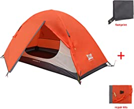 MIS MOUNTAIN INN SPORTS 1 Person Plus 2 Person Camping Tent,Portable Backpacking Tent with Footprint,Double Layer Waterproof Outdoor Tent,Lightweight Dome Tent for Camping Hiking Mountaineering Bicycle Camping Motorcycle Camping