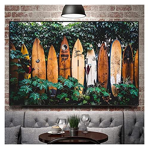 ZHANGKAIXUAN Retro Tropical Selva Tropical fotografía fotografía póster e impresión de la Pared de la Pared Pintura de la Lona for la Sala de Estar decoración del hogar 20x28in sin Marco
