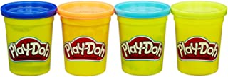 Play-Doh pack of 4 (16 oz) colors Blue, Orange, Teal & Neon Yellow by Hasbro