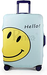 Periea Elasticated Suitcase Luggage Cover - 13 Different Designs - Small, Medium or Large (Smiley Face, Medium)