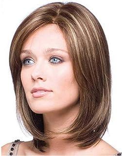 Superfast Short Dark Brown Peruvian Curly Human Hair Synthetic Fiber Wig for Women