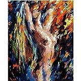 yaonuli Arte Digital tentación Abstracta Pintura DIY Figura Pared Arte Imagen acrílico Lienzo 40x50 cm Sin Marco