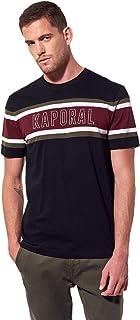 Kaporal - T-Shirt régular Homme avec Inscription en Relief en 100% Coton - Riko - Homme - XL - Noir