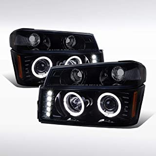 Autozensation For Colorado Canyon Glossy Black Halo Projector Headlights w/Corner Signal