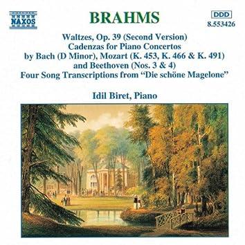 Brahms: Waltzes / Cadenzas / Die Schöne Magelone