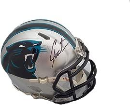 Cam Newton Autographed Mini Helmet - JSA Certified - Autographed NFL Mini Helmets
