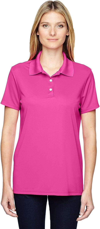 Hanes by Women's Cool Dri Sportshirt_Wow Pink_M