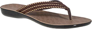 Khadim's Brown Fabric/Textile PU Sole Non-Padded Casual Slipper for Women