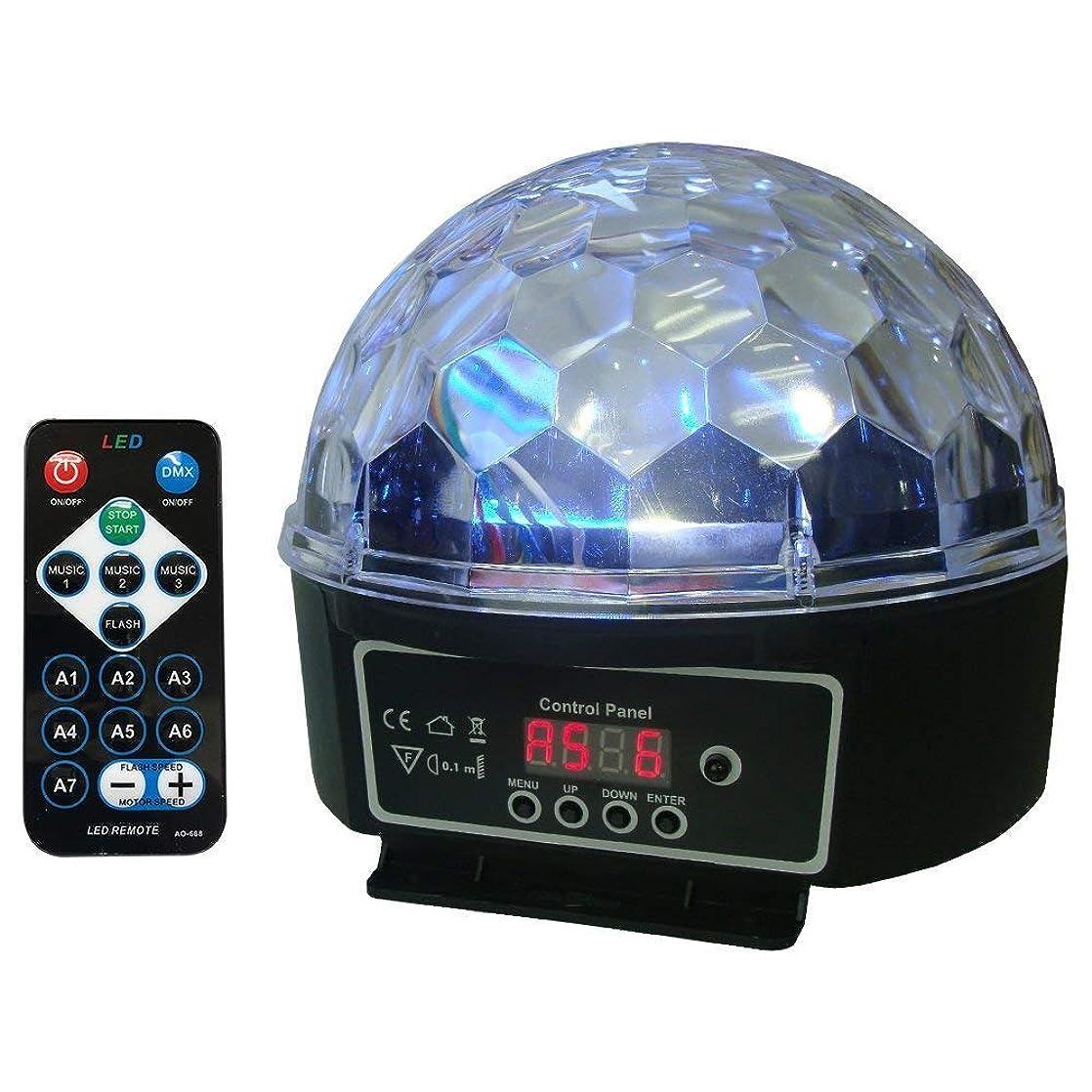 休憩患者効率的にステージライト LEDミラーボール LS-62 DMX対応 サウンドアクティブ