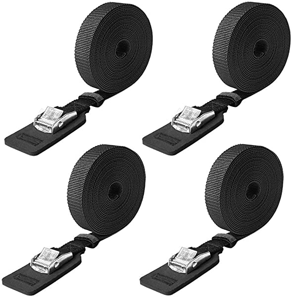 Boncas Sturdy 16 Foot By 1 Inch Tie Down Strap Lashing Strap Cargo Tie Down Strap Padded Cam Lock Buckle 4 Pack