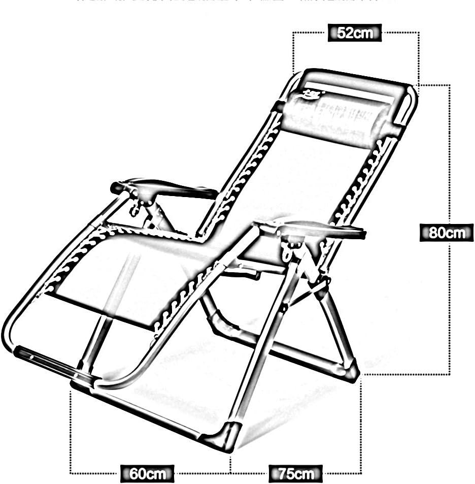 JXXDDQ Chaise Chaise pliante multifonction Siesta Lit Chaise de Pause Déjeuner Maison Loisirs Facile Chaise Plage (Couleur : B) A