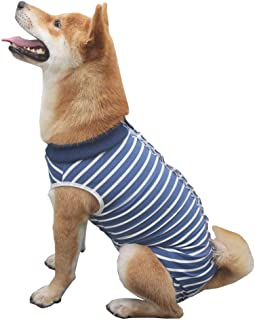 BBEART Dog Surgery Recovery Suit Pet Four-Legs Jumpsuit Stripe Camouflage Post-Operative Vest Shirt for Small Meidum Large Dog